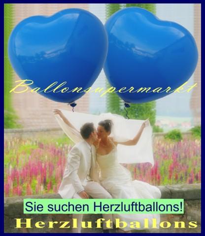 Luftballons zur Hochzeit steigen lassen? Sie suchen Herzluftballons!
