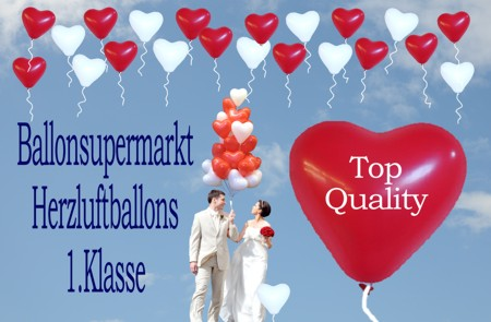Ballonsupermarkt-Herzluftballons der Klasse 1