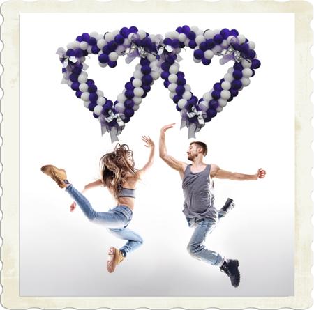 Herzen aus Luftballons, Deko-Herzen zur Hochzeit. Hurra! Selbst gemach!