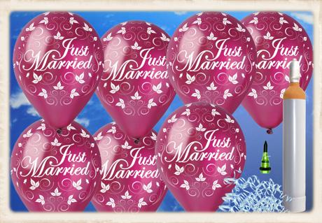 Luftballons zur Hochzeit steigen lassen: Just Married