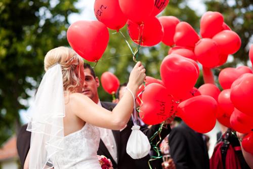 hochzeitliche Luftballons