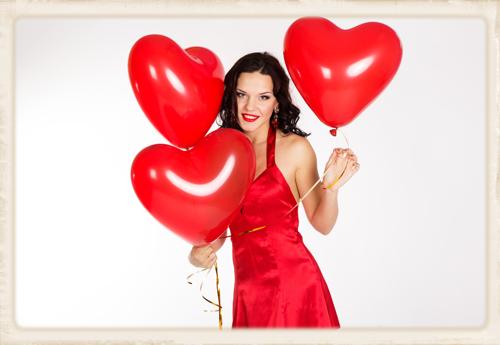 Größere Herzluftballons