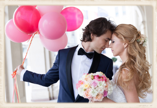 Hochzeit mit schönen Luftballons