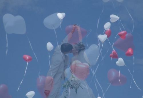 Video Luftballons zur Hochzeit steigen lassen