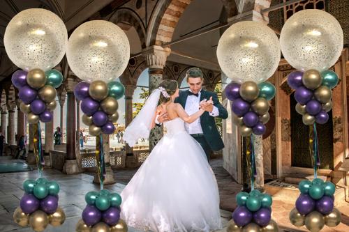 Luftballons zur Hochzeit Dekoration